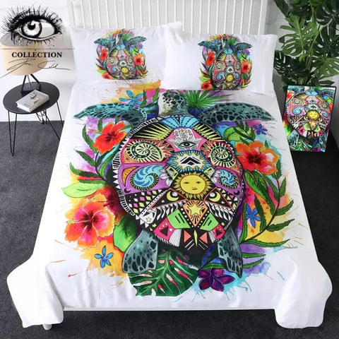 Turtle Life By Pixie Cold Art Bedding Set