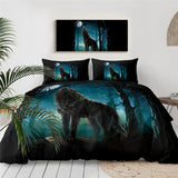 Wolf Howling In The Woods Bedding Set