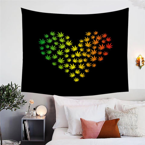 Maple Heart Wall Tapestry