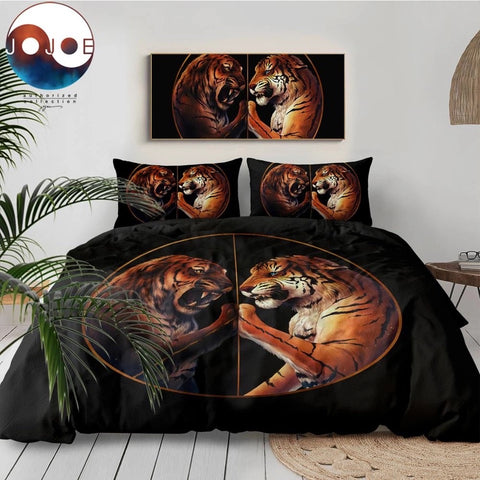 Peace by JoJoesArt (Black) Bedding Set