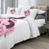 Snake & Pink Flowers Bedding Set