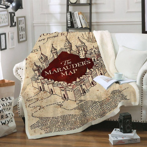 The Marauder's Map Throw Rug