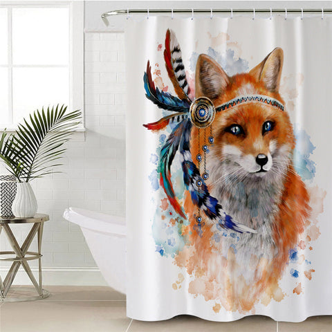 Indian Fox Shower Curtain