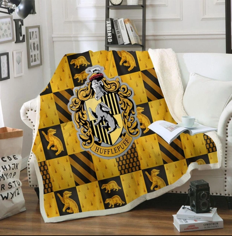 Hufflepuff Checkered Throw Rug