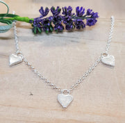 Three Forever Heart Necklace