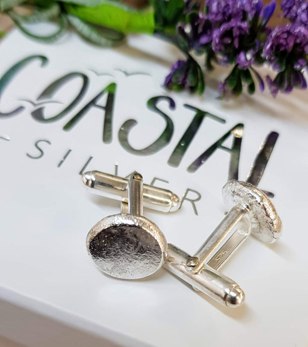 Personalised Pebble Cufflinks