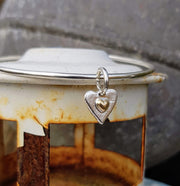 A Drop of Gold Forever Heart  Bangle