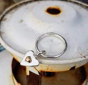 A Drop of Gold Forever Heart Ring