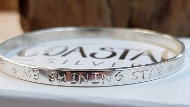 Thick Personalised Bangle
