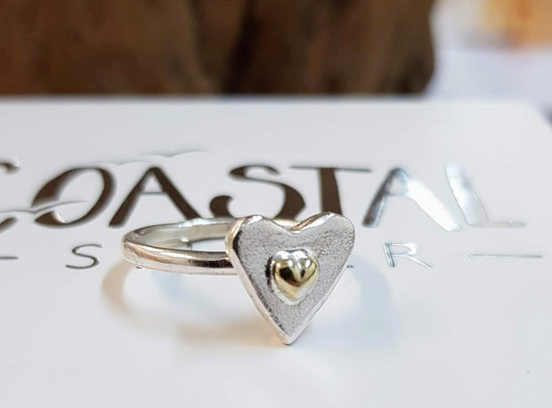 Drop Of Gold Heart Ring