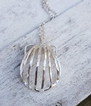 Scallop Shell Large Statement Handcrafted