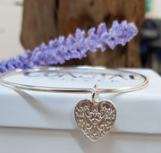 Fancy Heart Bangle