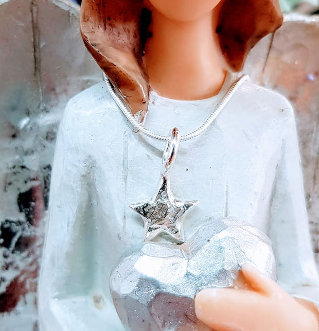 Ashes into Silver Memory Star Necklace
