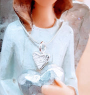Ashes into Silver Memory Heart Necklace
