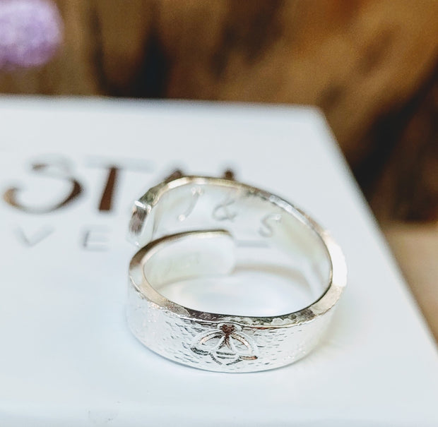 Personalised  Wrap Around Open Ring