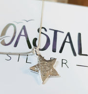 Ashes into Silver Large Star Necklace