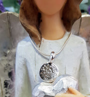 Ashes into Silver Disc Necklace