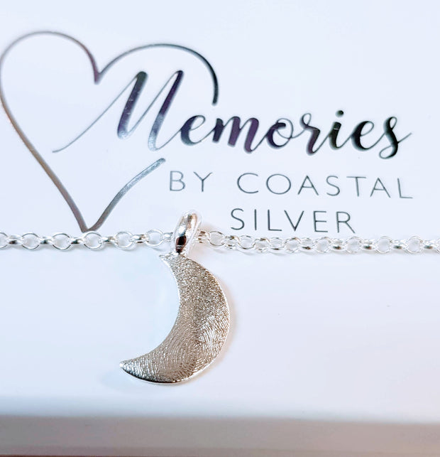 Crescent Moon Fingerprint Bracelet