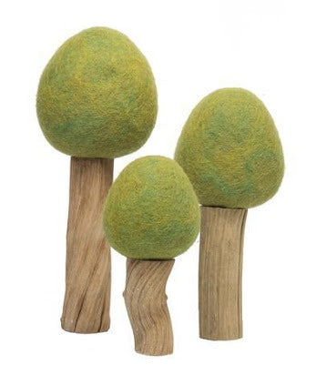PAPOOSE - FELT TREES SPRING 3PC