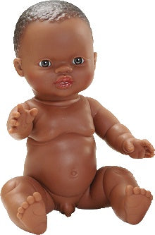 THEO - PAOLA REINA GORDI DOLL AFRICAN BOY - NO HAIR 34CM