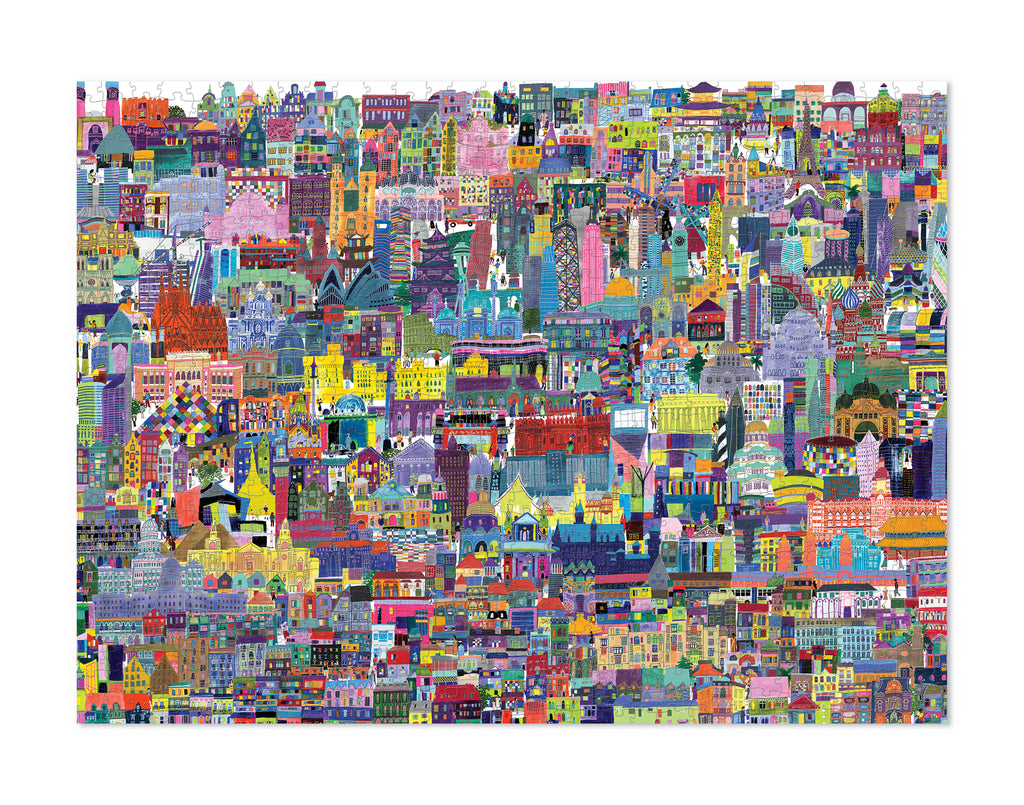 BUILDINGS OF THE WORLD PUZZLE 1000PC