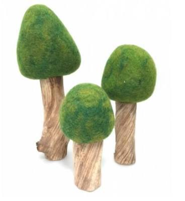 PAPOOSE - FELT TREES SUMMER 3PC