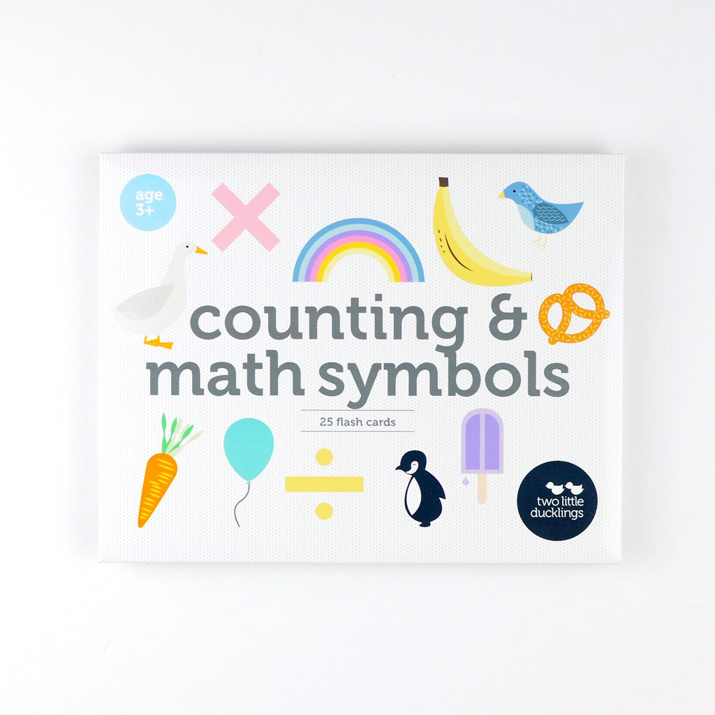 COUNTING & MATH SYMBOLS FLASH CARDS