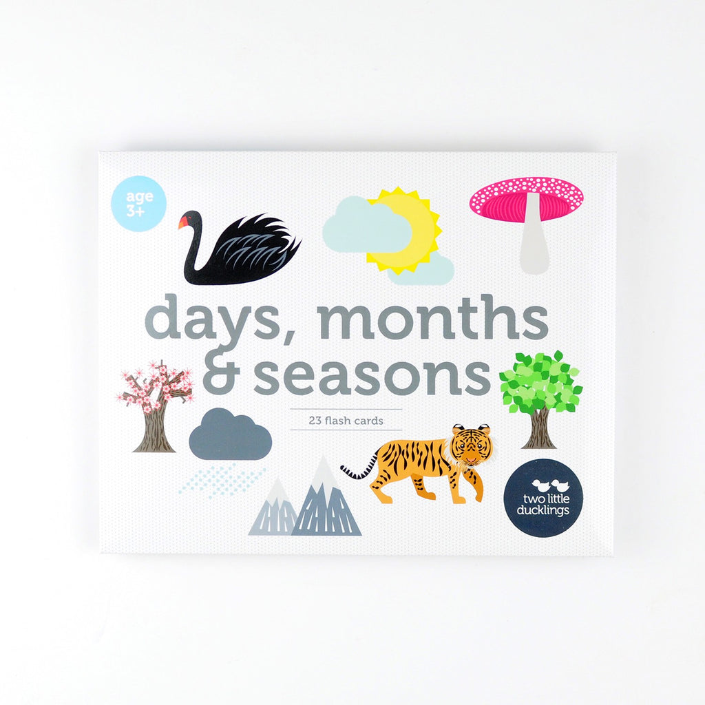 DAYS, MONTHS & SEASONS FLASH CARDS