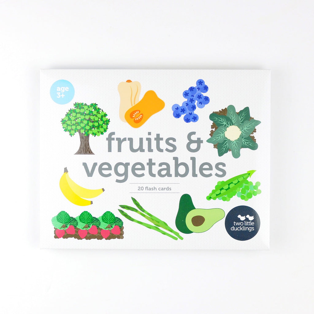 FRUITS & VEGETABLES FLASH CARDS