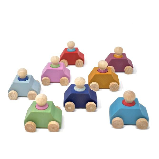 LUBULONA CARS - 8 PACK WITH FIGURES