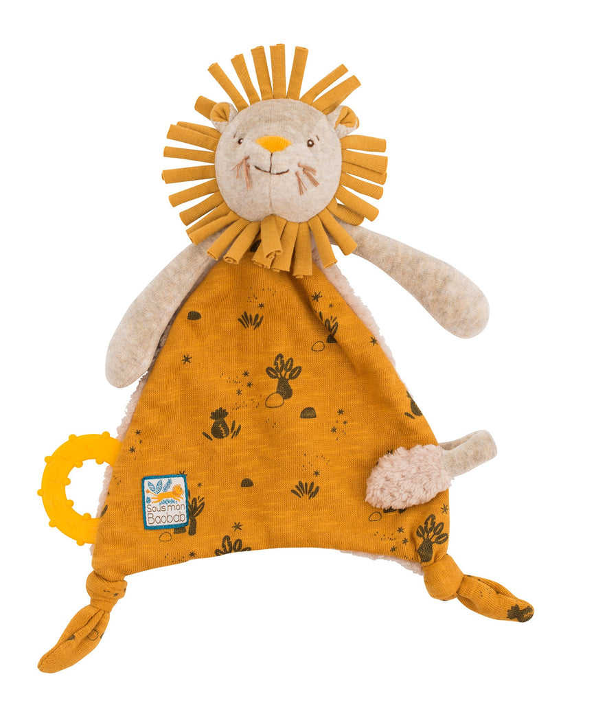 SOUS MON BAOBAB - LION COMFORTER with PACIFIER HOLDER