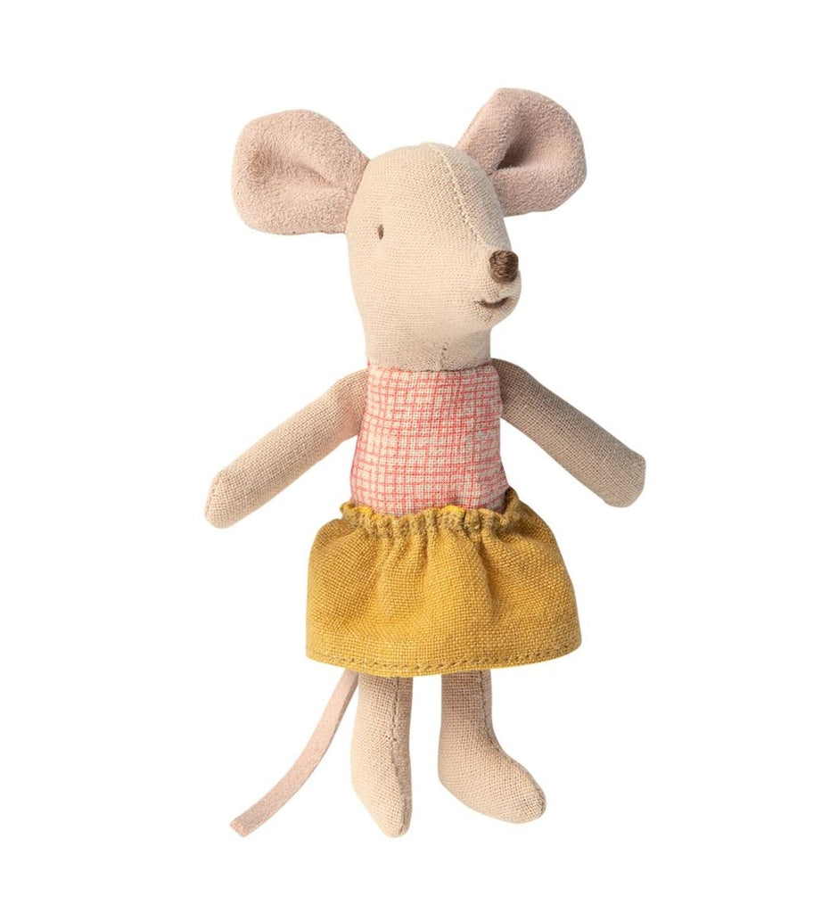 LITTLE SISTER MOUSE IN BOX (PINK/MUSTARD) - MAILEG