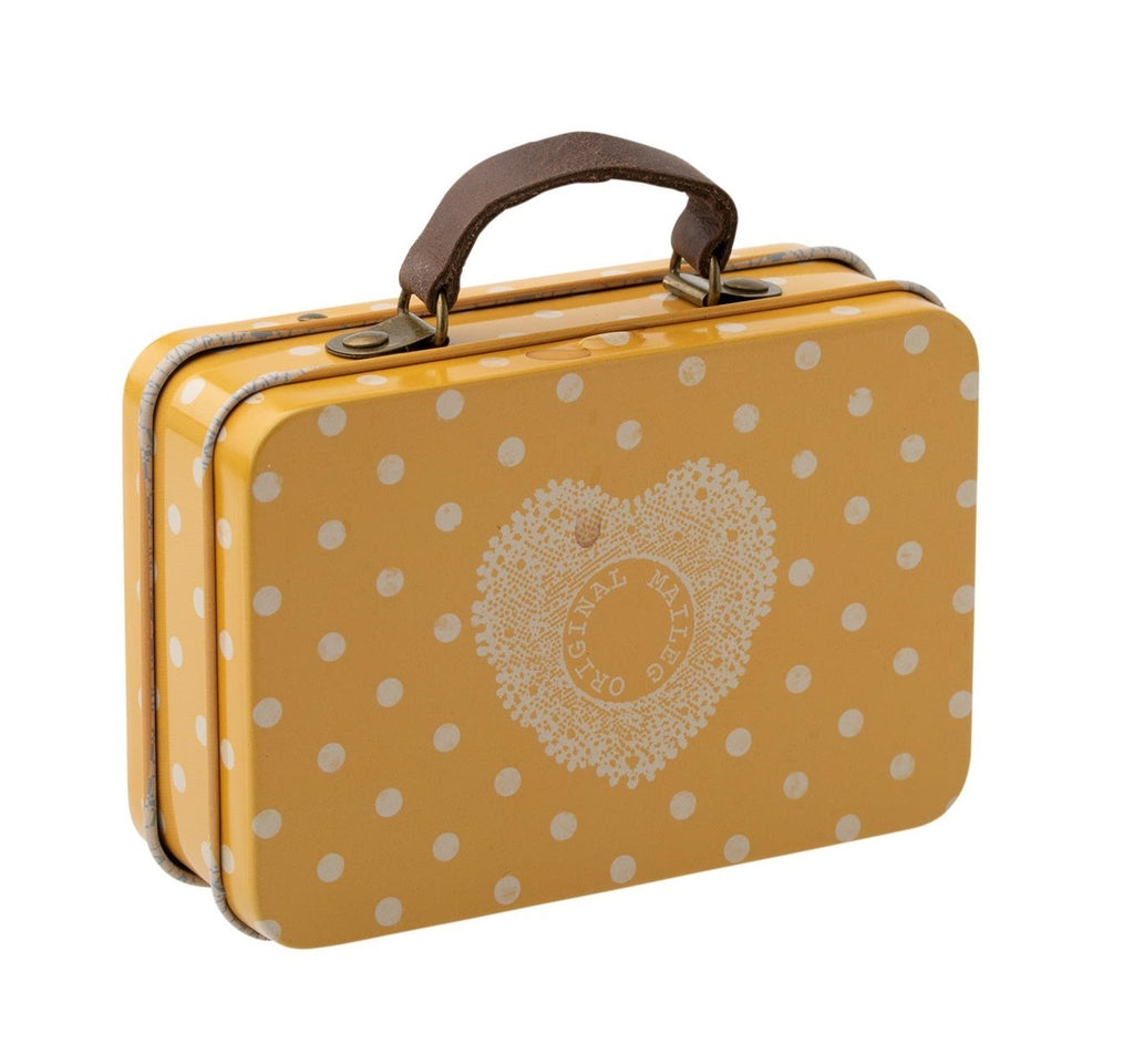 METAL SUITCASE - YELLOW DOT