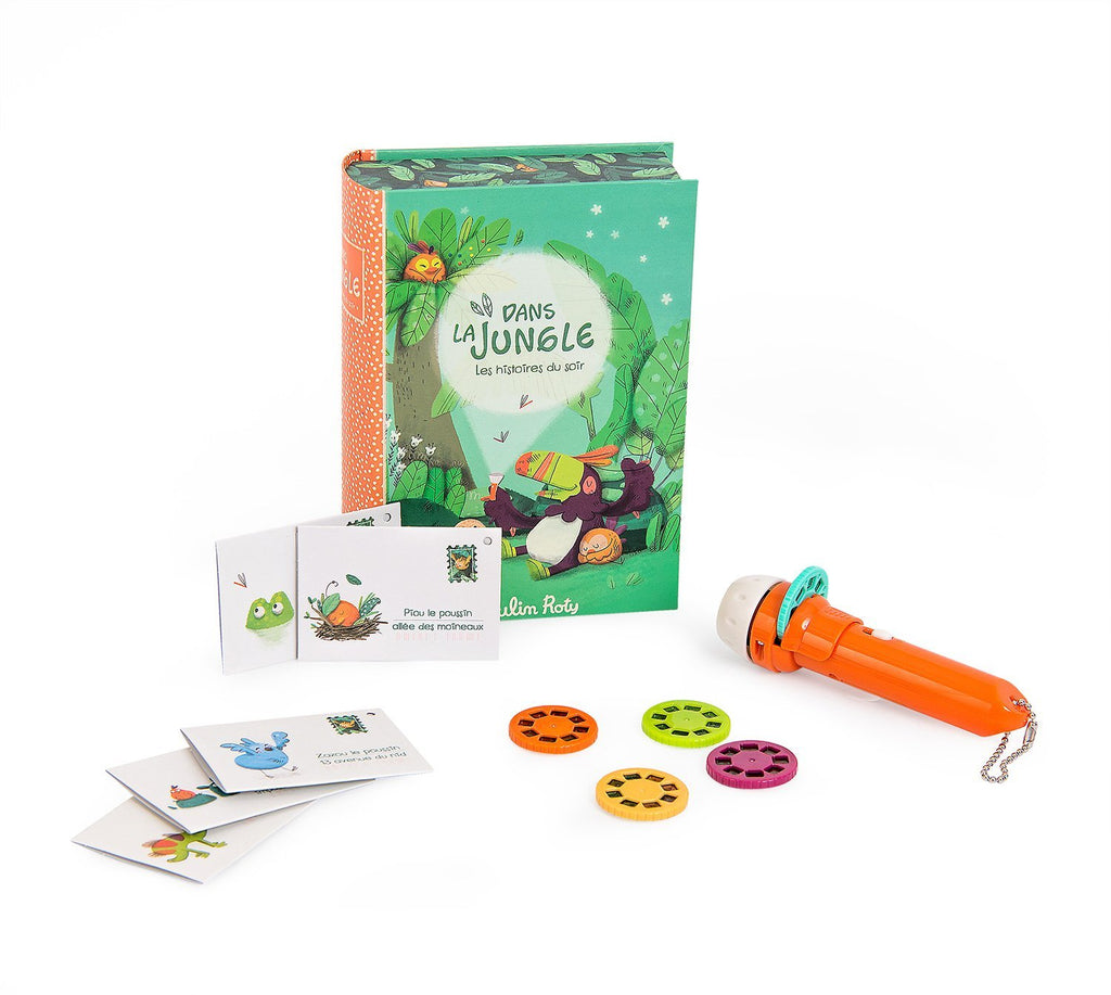 DANS LA JUNGLE STORYBOOK TORCH SET