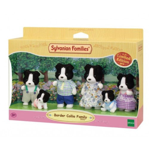 SYLVANIAN BORDER COLLIE FAMILY WITH TWINS