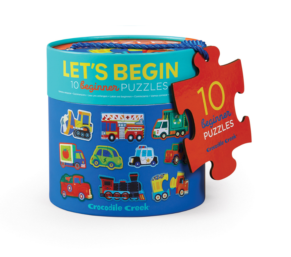 LET'S BEGIN 10 X 2PC PUZZLE - VEHICLES