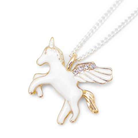 LAUREN HINKLEY - GOLD UNICORN NECKLACE