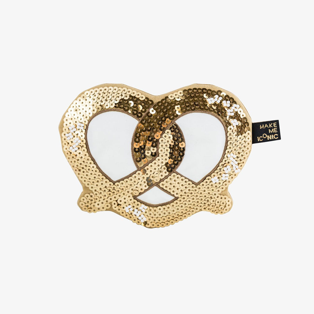 ICONIC SEQUIN PURSE - PRETZEL