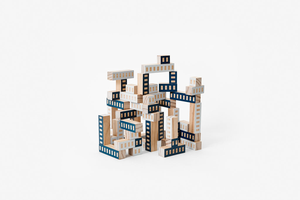 Blockitecture Tower blue areaware