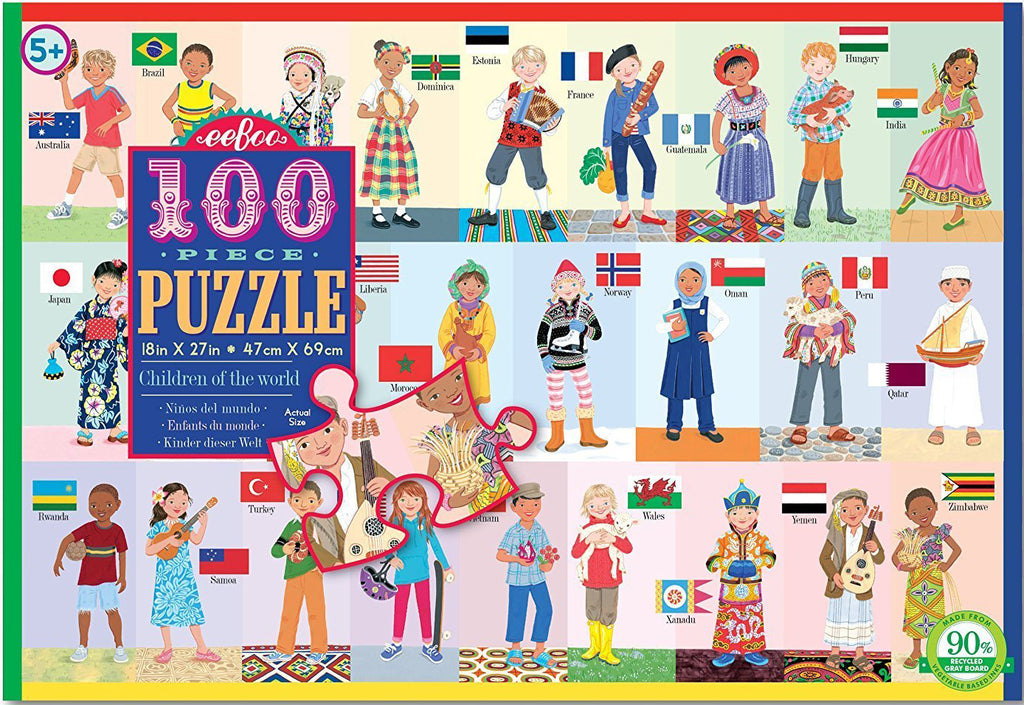Children of the World Puzzle Eeboo