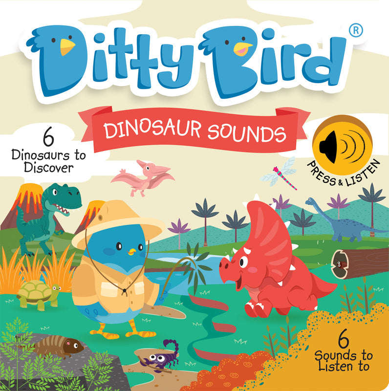DITTY BIRD BOOK - DINOSAUR SOUNDS