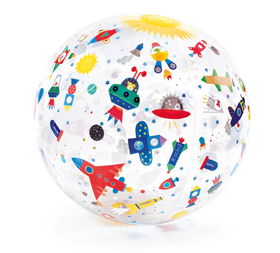 INFLATABLE BALL 35CM - SPACE