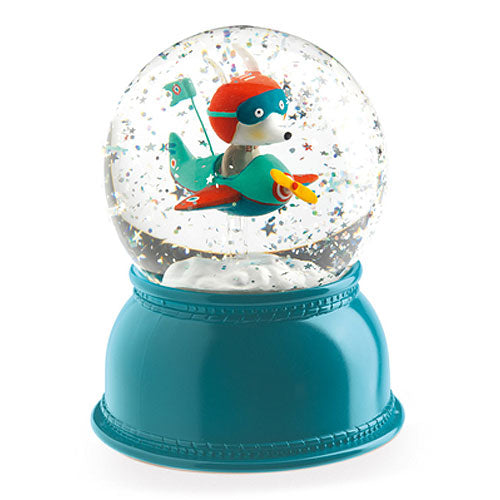 AIRPLANE GLOBE NIGHT LIGHT