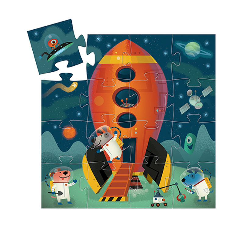 SILHOUETTE PUZZLE SPACESHIP 16PC