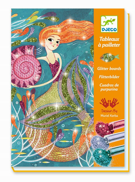 GLITTER BOARDS MERMAID CRAFT KIT DJECO