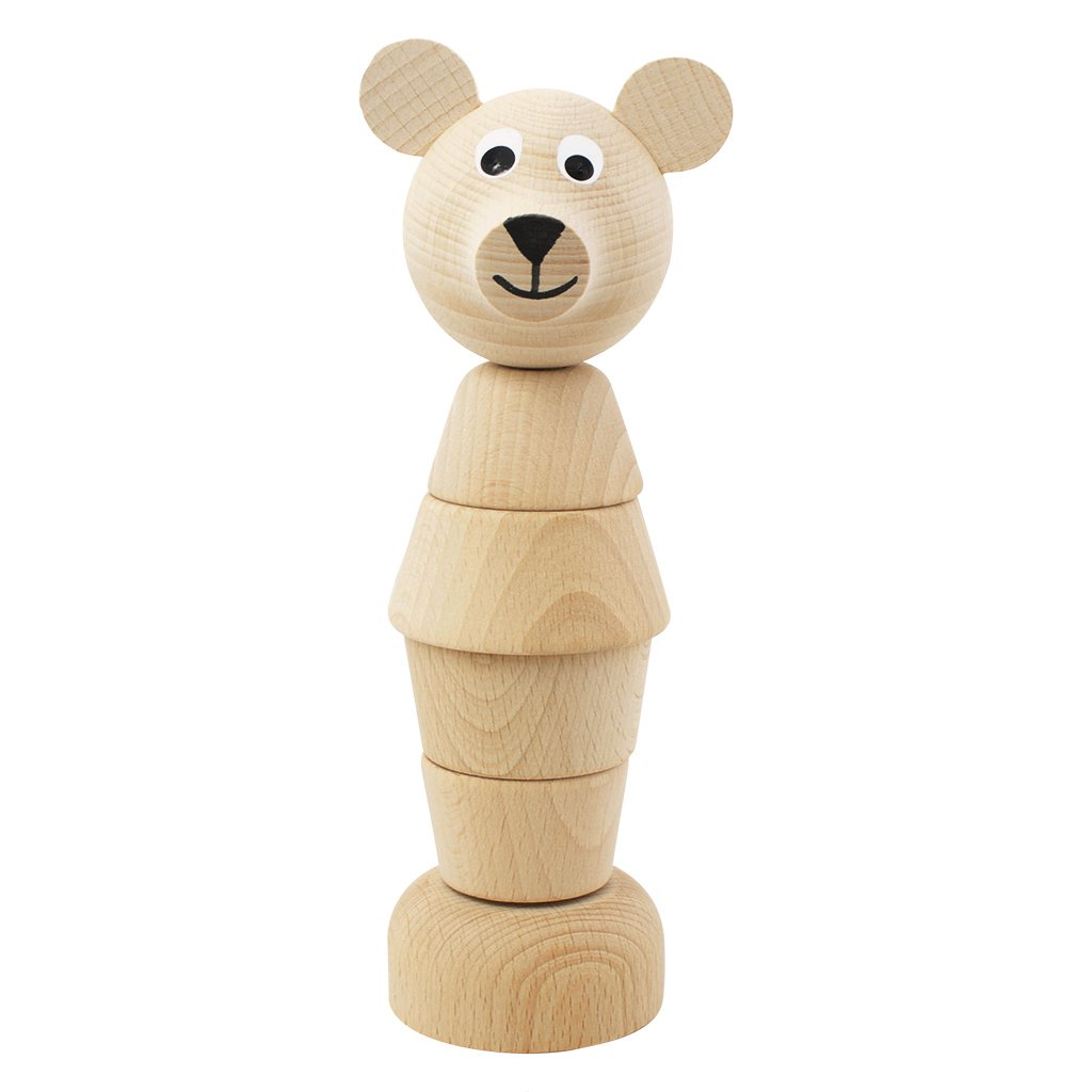 WOODEN BEAR STACKER - EDMOND