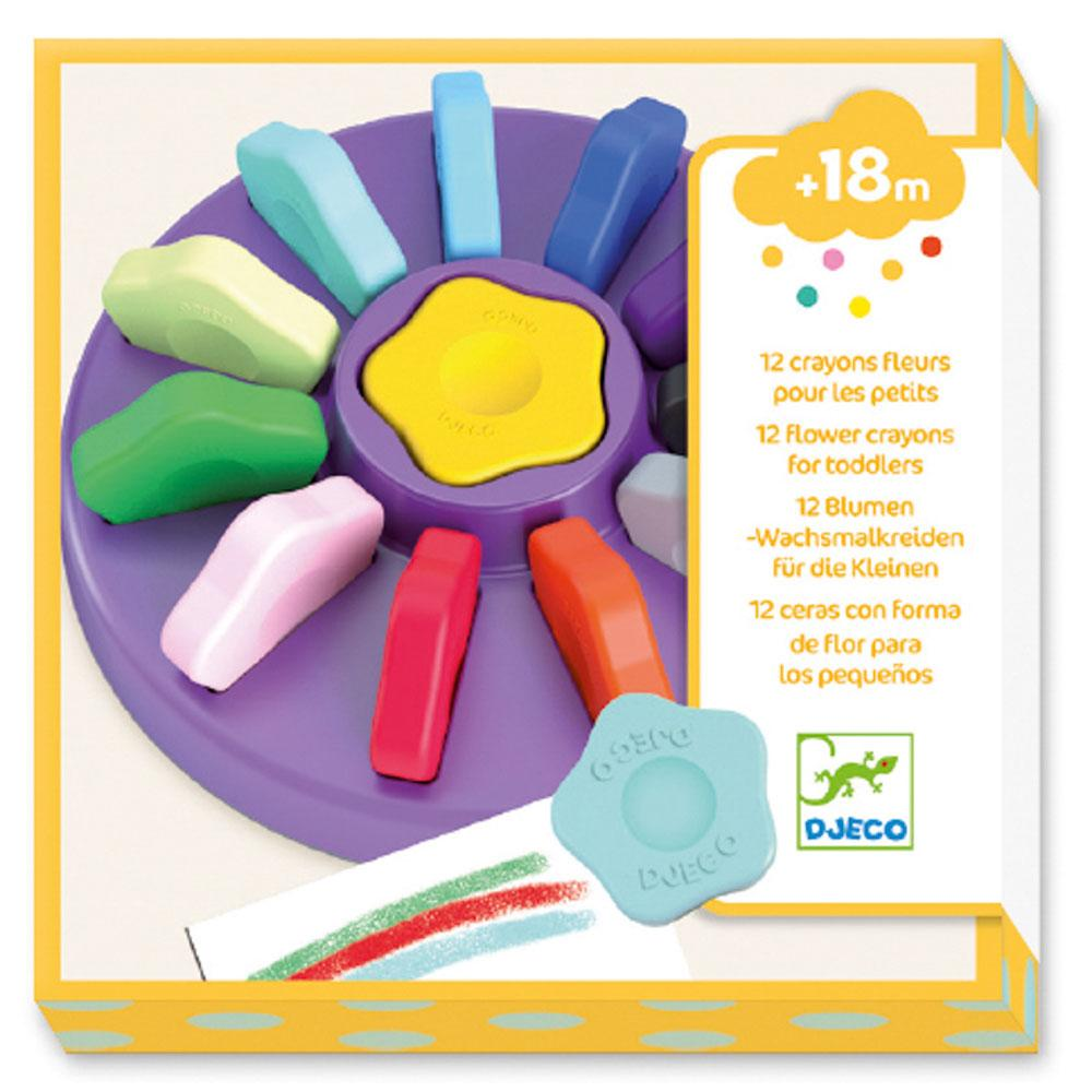 COLOUR CRAYONS FLOWER - 12 PC