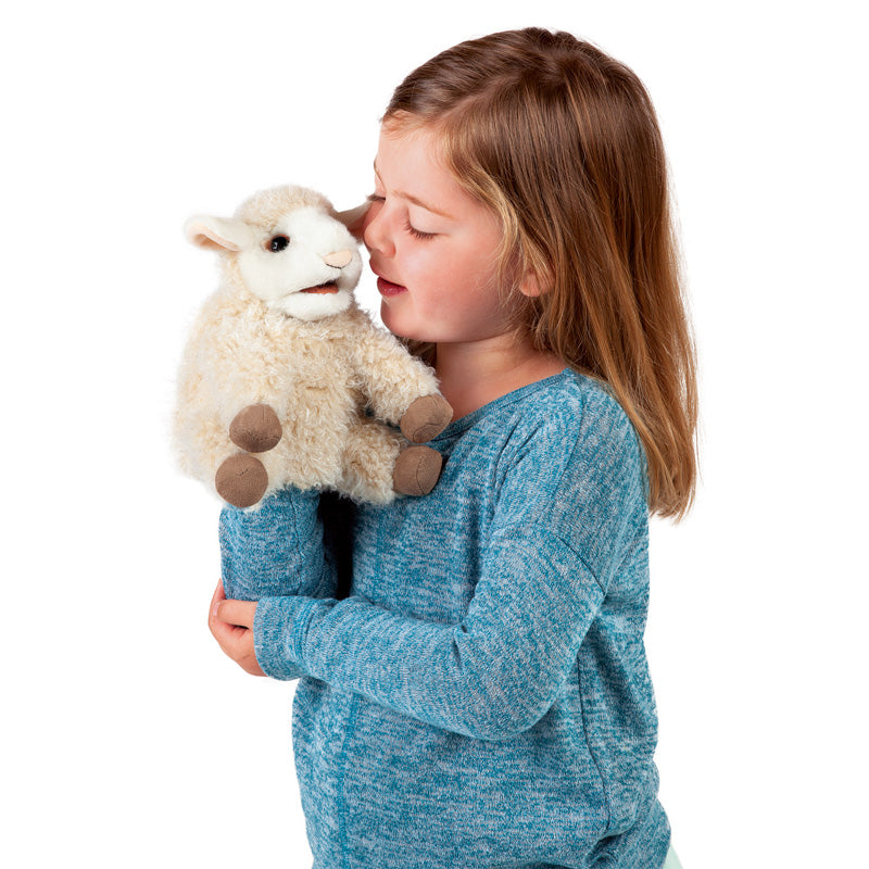 FOLKMANIS LAMB PUPPET, SMALL