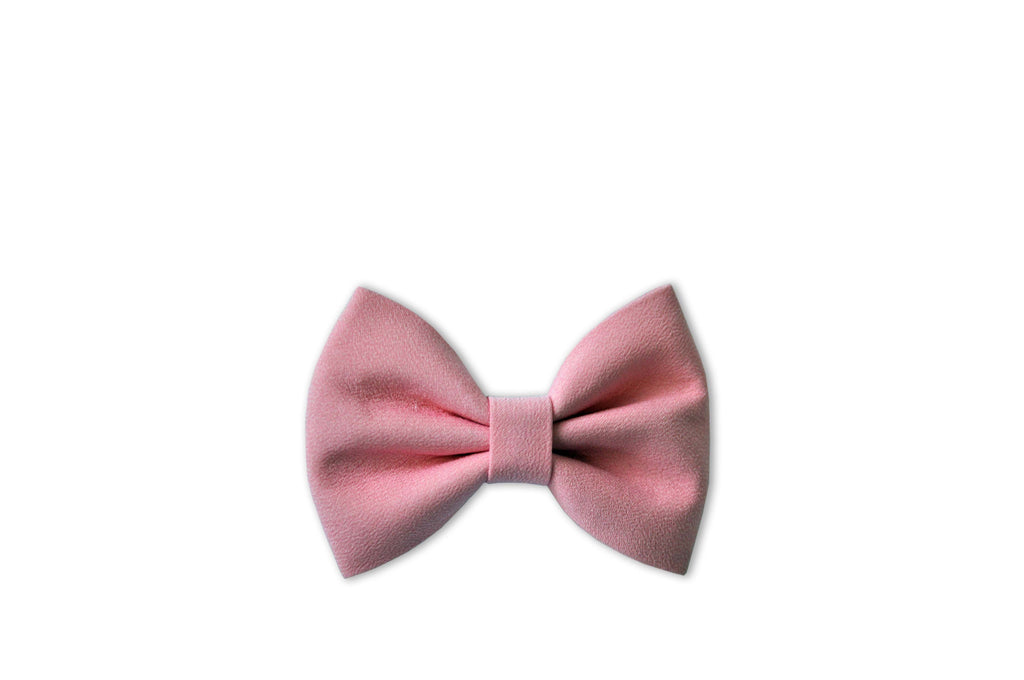 PRETTY WILD - GEORGIE SINGLE BOW CLIP PLAIN - PINK