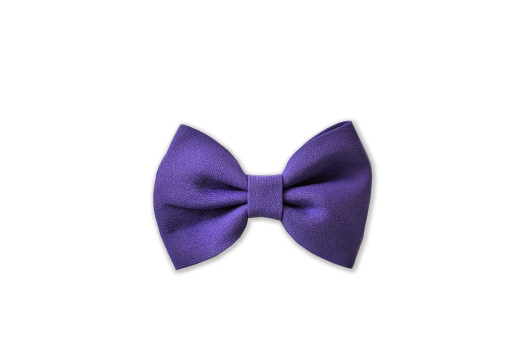 PRETTY WILD - GEORGIE SINGLE BOW CLIP PLAIN - PURPLE